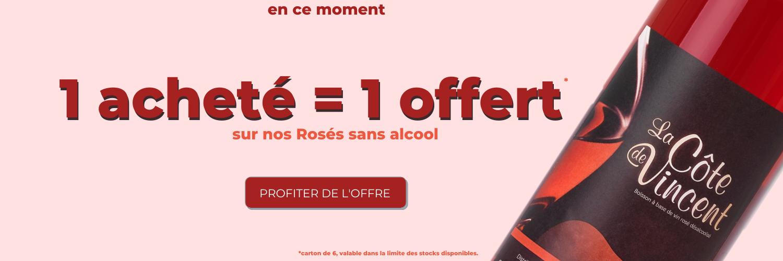 vin sans alcool rosé